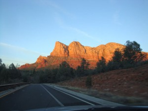 Sedona Sunset seen arriving on 2-21-12